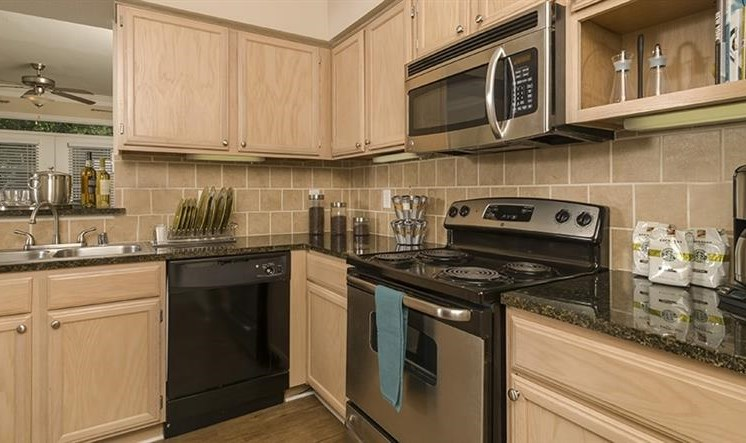 Spacious Kitchen with Pantry Cabinet at Kirby Place Apartments, 77030