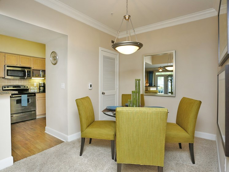Impressive Dining Area at Kirby Place Apartments, Houston, Texas
