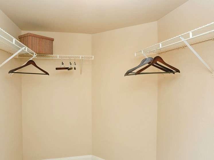 Spacious Closets at Kirby Place Apartments, Houston, TX