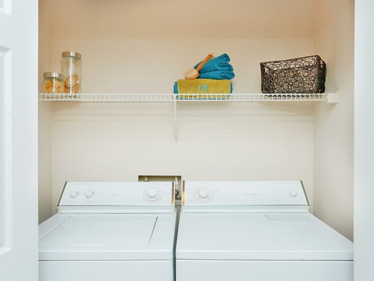 Full-sized Washer and Dryer Included at Kirby Place Apartments,