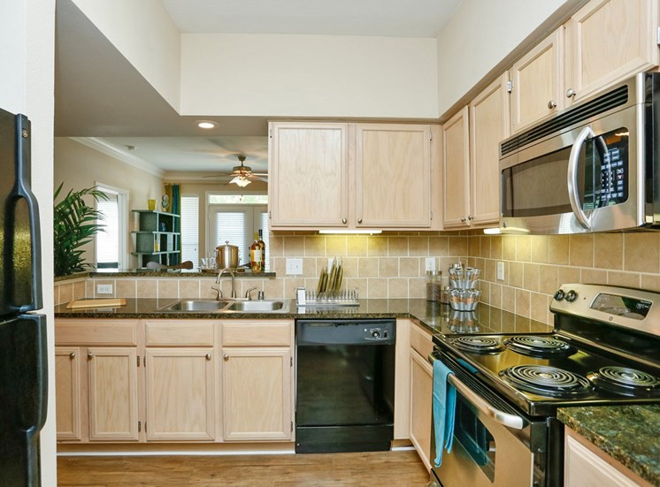Oak Cabinetry at Kirby Place Apartments, 77030
