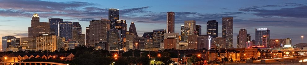 Beautiful City Views from Balcony at Kirby Place Apartments, Houston