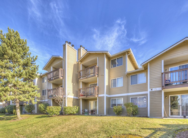 Beautifully-Landscaped Grounds at Mirabella Apartments, 805 112th St SE, Everett, Washington