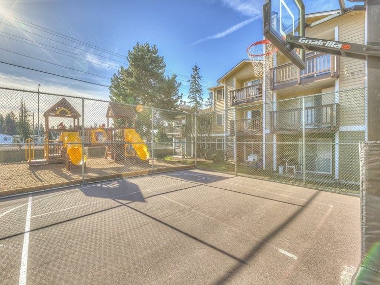 Basketball Court at Mirabella Apartments, 805 112th St SE, Everett