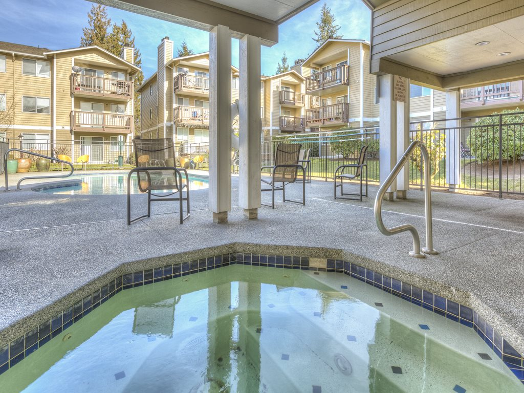 Heated Spa at Mirabella Apartments, 805 112th St SE, Everett, Washington