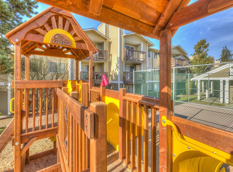 Children's PlayGround With Tot Lot at Mirabella Apartments, Washington 98208