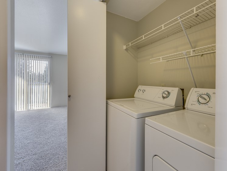 In-Home Washer and Dryer at Mirabella Apartments, 805 112th St SE, Everett, 98208