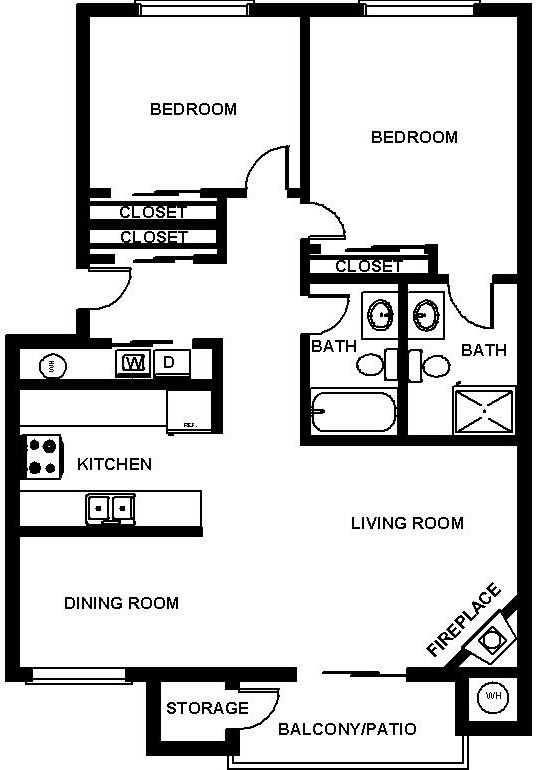 Floorplan at Mirabella Apartments, Washington 98208