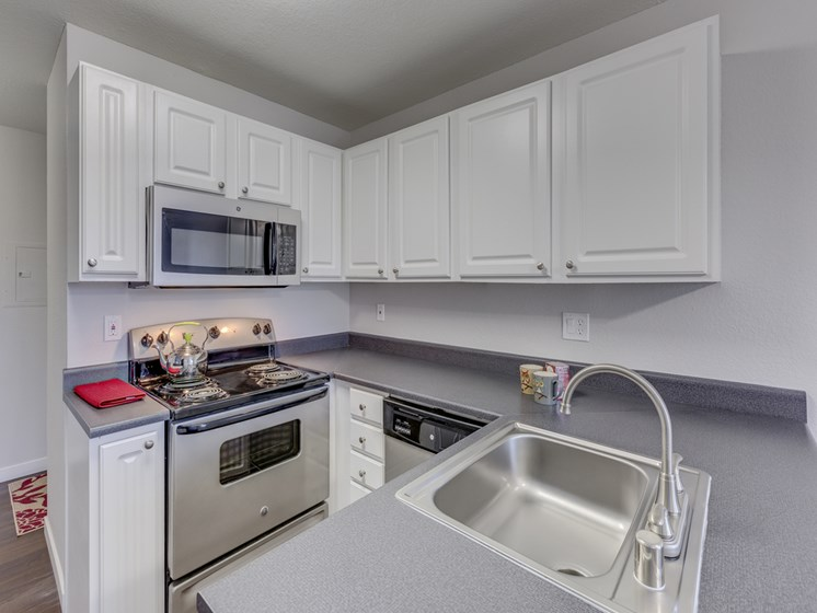 Gourmet Kitchens with Dishwasher and Disposal at Nickel Creek Apartments, 3702 204th St SW, Washington
