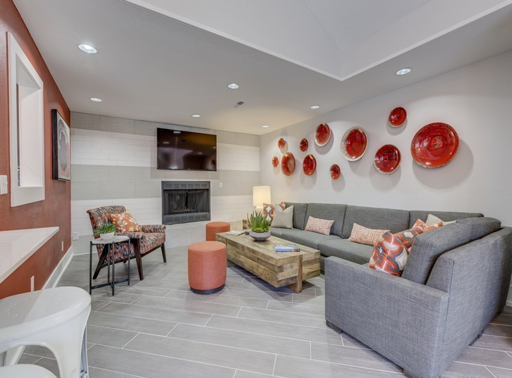 Furnished Living Rooms With Fireplace at Nickel Creek Apartments, 3702 204th St SW, Washington