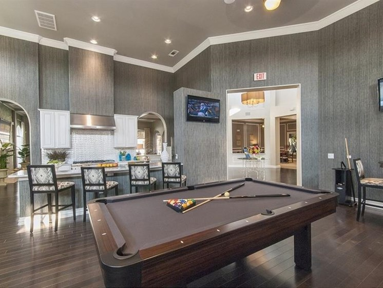 Game Room With Billiards at Parc Woodland, Conroe, Texas