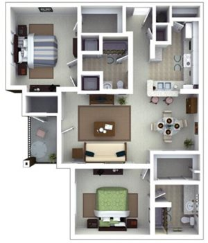 Browning Floorplan at Roswell Village Apartments