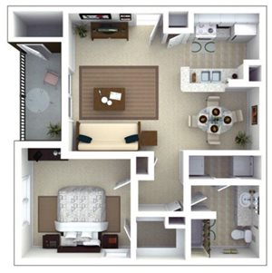 Elliot Floorplan at Roswell Village Apartments