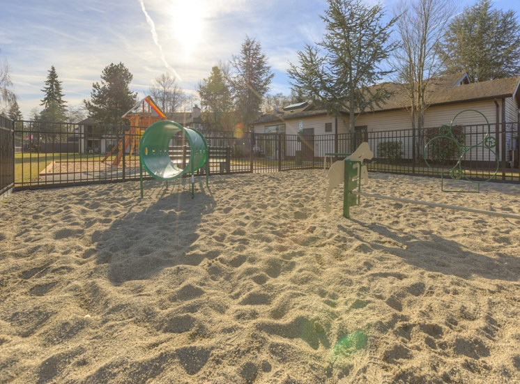 Playground With Tot lot at Saratoga Apartments, Washington 98204