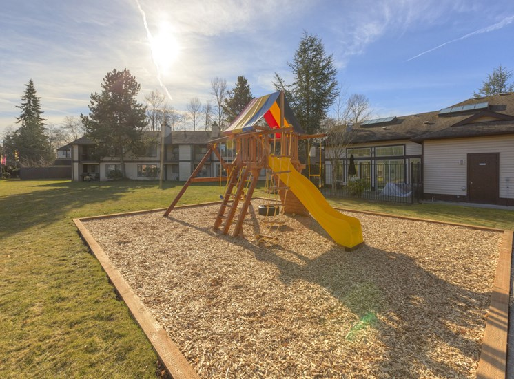 Playground With Tot lot at Saratoga Apartments, 11812 E. Gibson Rd., Washington 98204