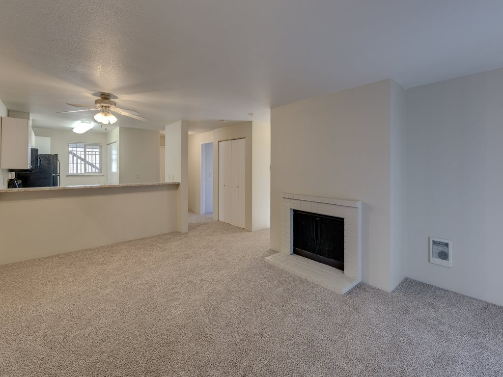 Open floor Plans With Fireplace at Saratoga Apartments, 11812 E. Gibson Rd., Washington 98204