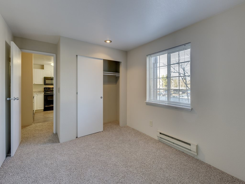 Private Master Bedroom With attached Storage Space at Saratoga Apartments, 11812 E. Gibson Rd., Everett, Washington 98204