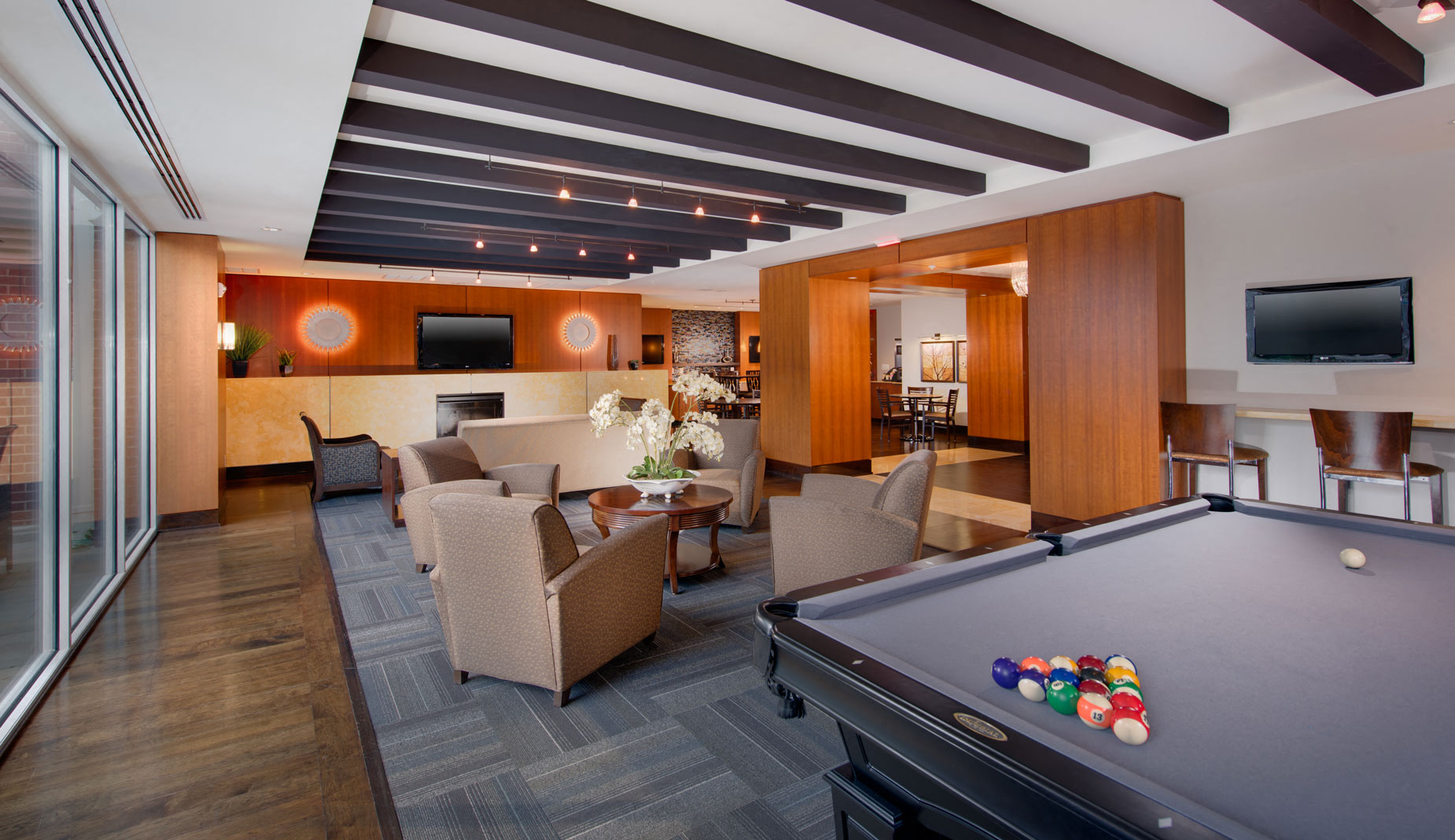 Newly Renovated Clubhouse With Billiards At The Ridgewood By Windsor, 4211  Ridge Top Road,