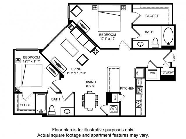 Floorplan At The Ridgewood By Windsor, Fairfax, VA 22030