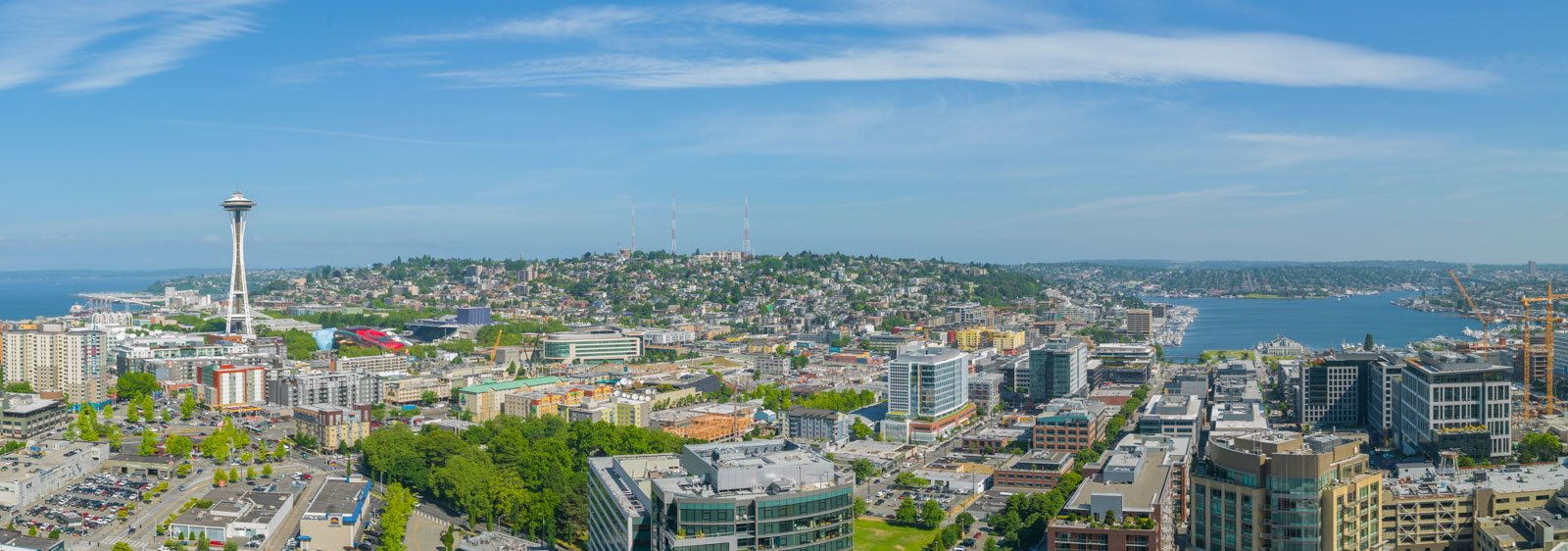 Panoramic Views of Downtown at Cirrus, Seattle