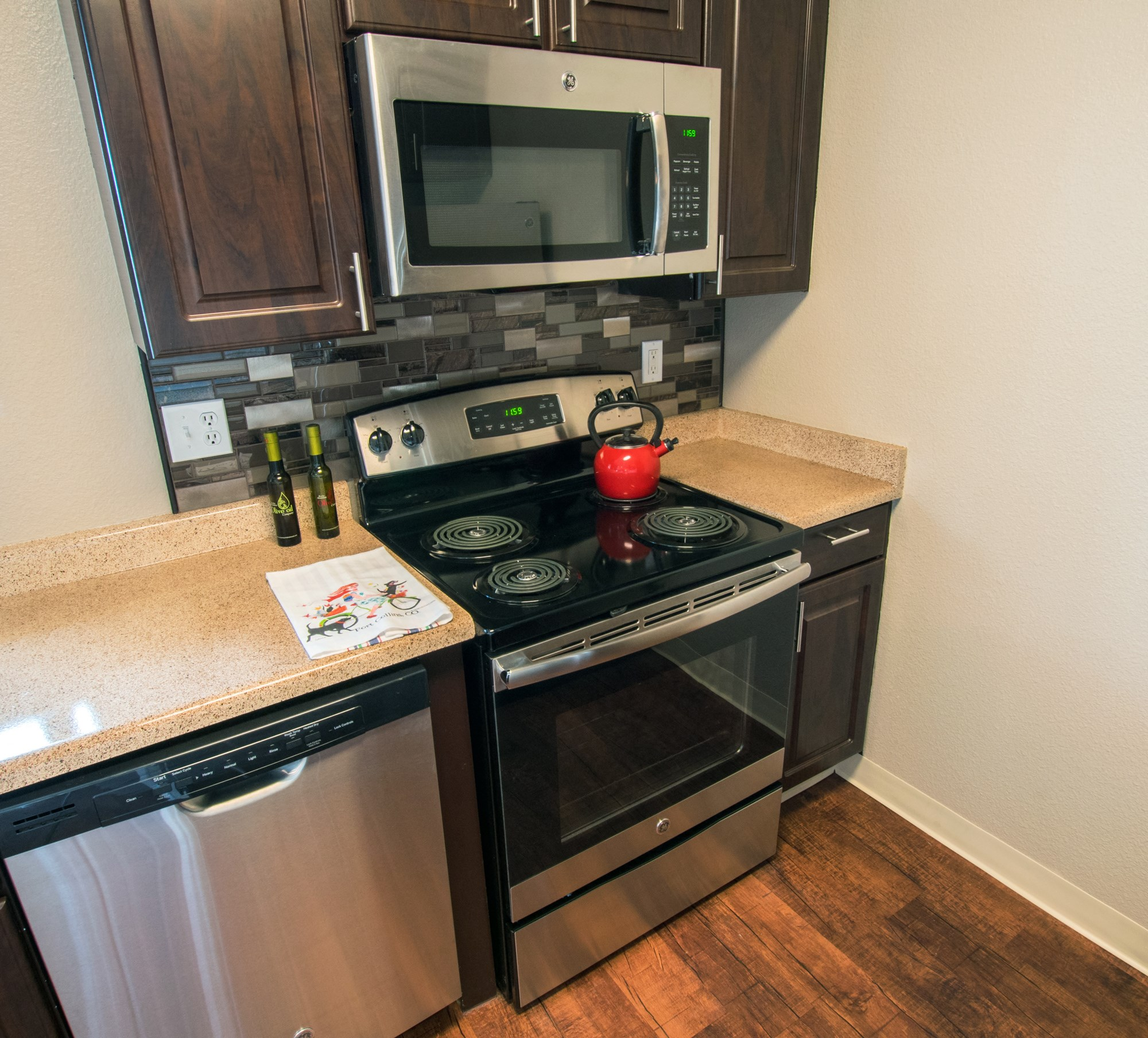 Upgraded Kitchen at Miramont Apartments in Fort Collins, CO