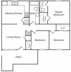 3 Bedroom, 1.5 Bath