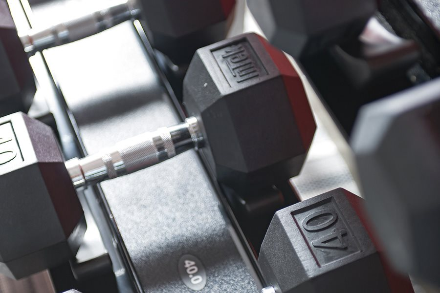 Free Weights at Luxury Kissimmee Apartments, Lugano Apartments