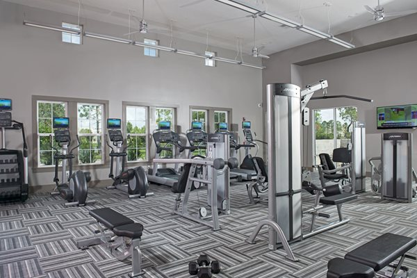 24 Hour Fitness Center with Free Weights, Cardio Equipment, & Fitness On Demand at Lugano Apartments Kissimmee Apartments, Florida 34741