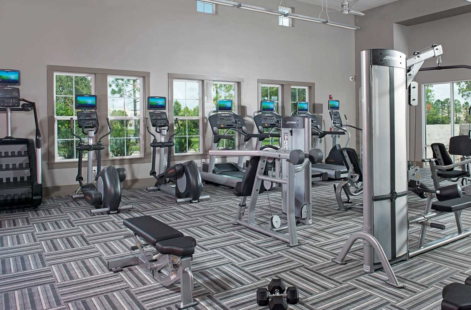 Gym at Lugano Apartments, Kissimmee, FL, 34741