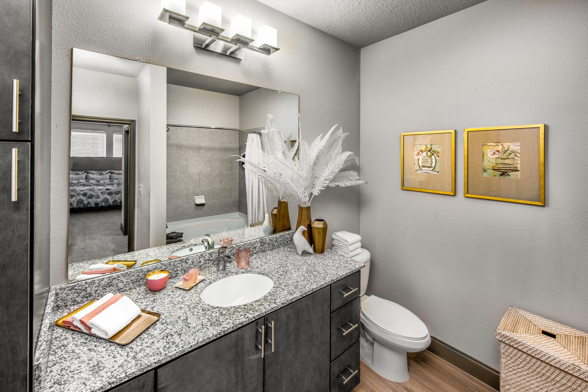 Granite Style Countertops at  Lugano Apartments, Florida, 34741