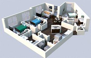 Landon House Apartments in Lake Nona Orlando, FL 32827 floor plan