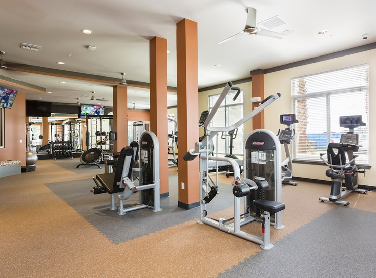 fitness center with equipment at LandonHouse