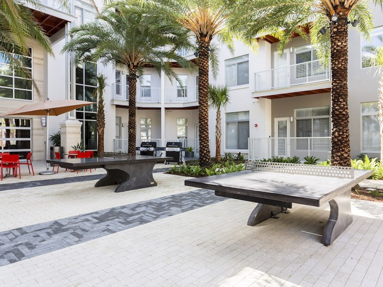 Landon House Apartments in Lake Nona Orlando, FL 32827 outdoor designer ping pong tables