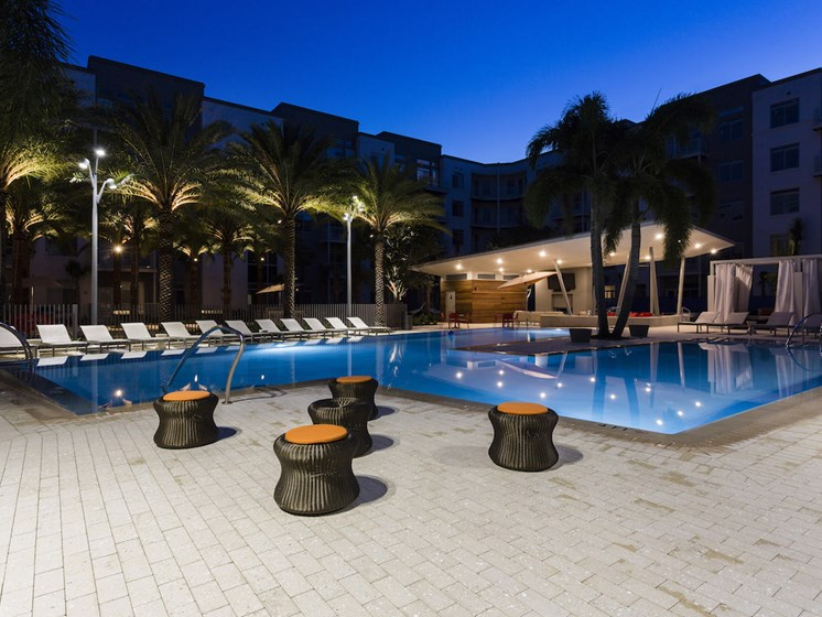 Landon House Apartments in Lake Nona Orlando, FL 32827 pool with seating areas