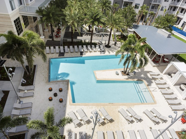 Landon House Apartments in Lake Nona Orlando, FL 32827 areal shot of pool and aqua deck