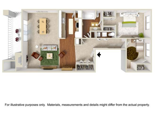 Floor Plan | Haven at Charbonneau Apartments For Rent in Wilsonville, OR