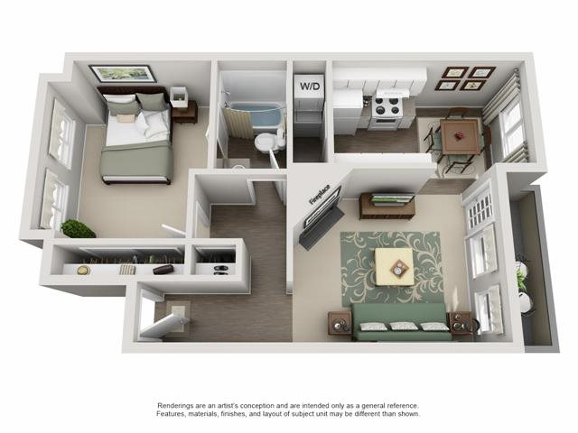 Floor Plan | The Township Apartments For Rent in Canby, OR