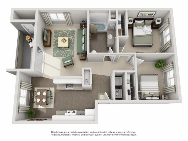 Floor Plan| The Township Apartments For Rent in Canby, OR