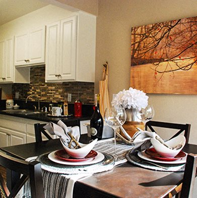 Dining Room At Monte Vista Apartment Homes 1825 Foothill Boulevard La Verne