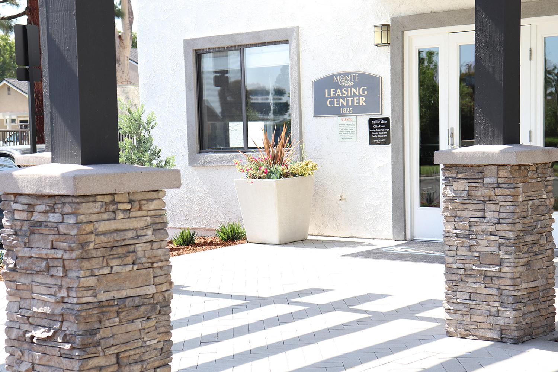 Leasing Building Exterior at Monte Vista Apartment Homes, La Verne, California