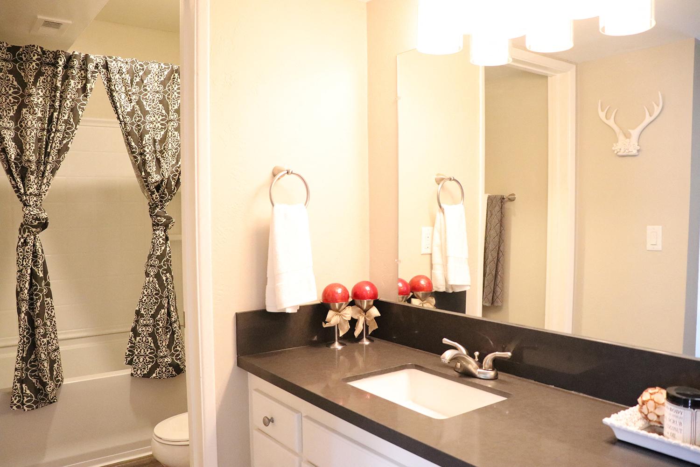 Bathroom at Monte Vista Apartment Homes, La Verne, California