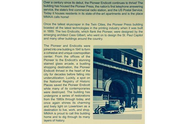 Pioneer Endicott in historic Lowertown St Paul