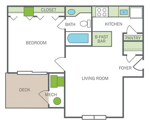 Renovated Vienna (A1R) Floor Plan 2