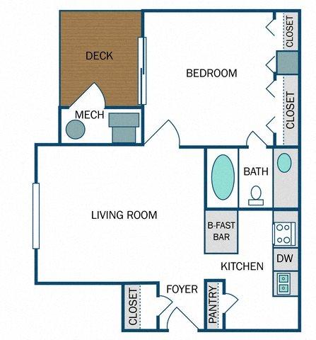 Lenox Renovated (A1R) Floor Plan 6