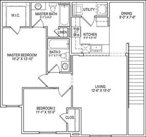 B2 Upper Floor Plan