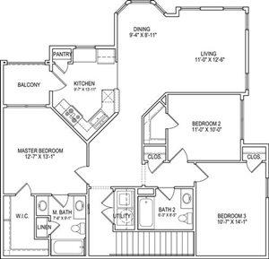 C2 Upper Floor Plan