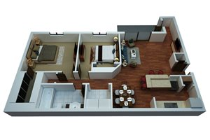 Two Bedroom/One Bath-Simply Modern