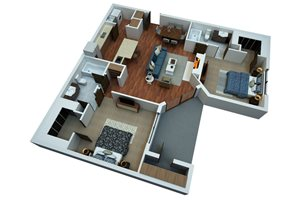 Two Bedroom/Two Bath-Simply Modern