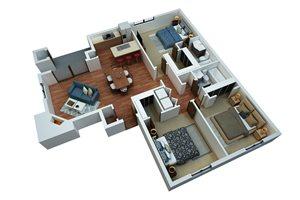 Three Bedroom/Two Bath-Simply Modern