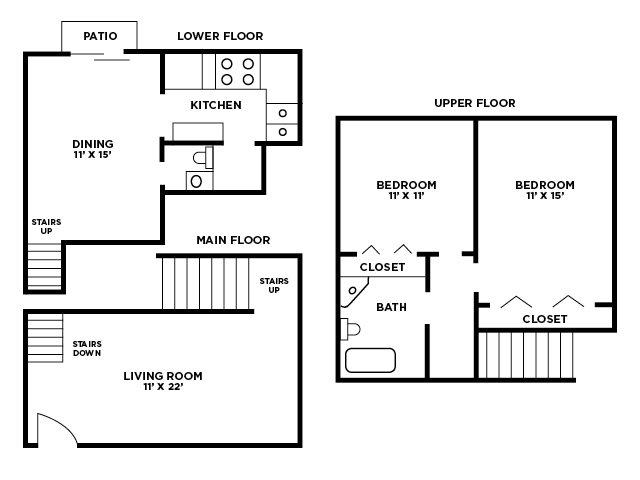Two Bedroom Floor Plan Floor Plan 2